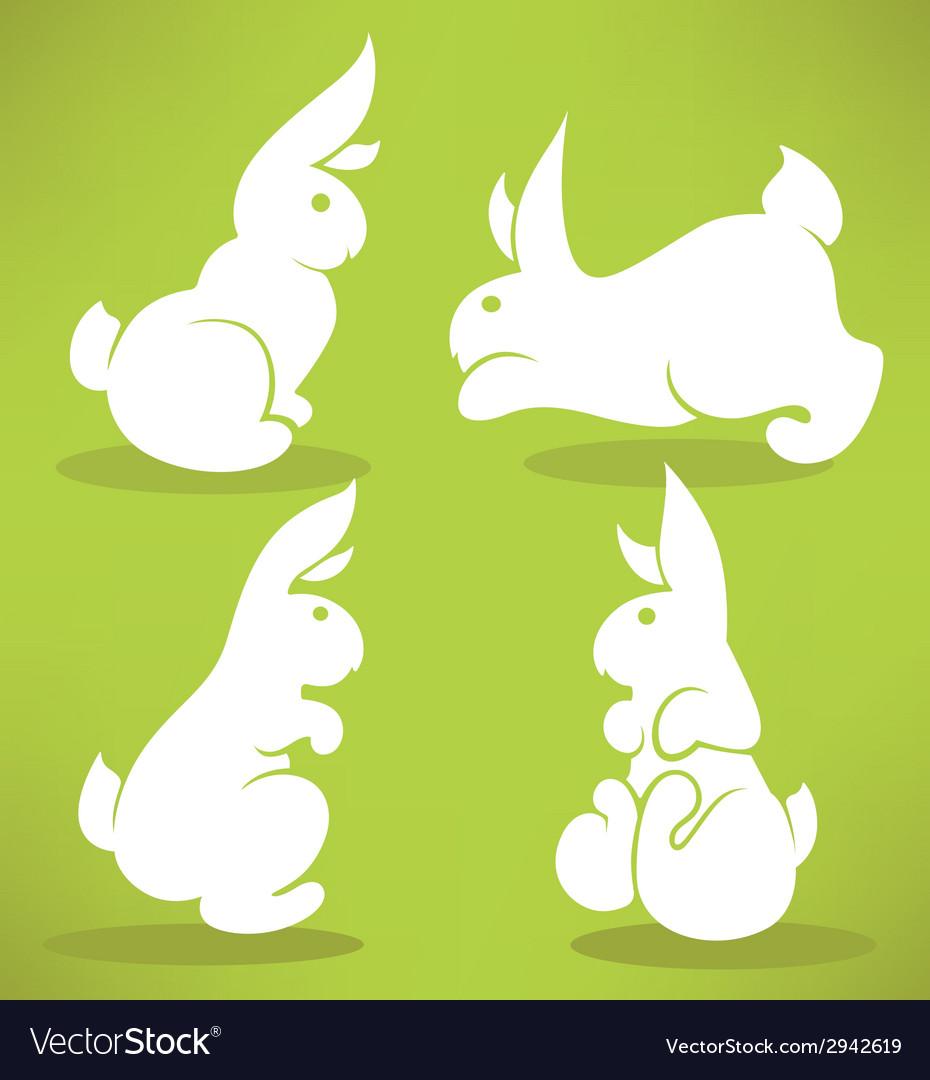 White rabbits vector | Price: 1 Credit (USD $1)