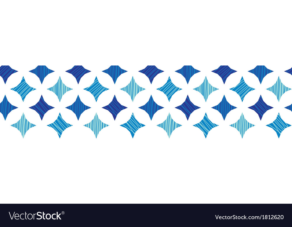 Blue marble tiles horizontal border seamless vector | Price: 1 Credit (USD $1)