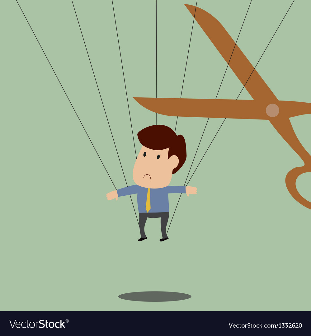 Businessman is trapped and will be release soon vector | Price: 1 Credit (USD $1)