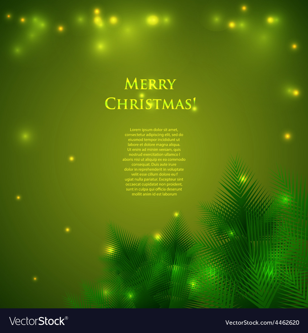 Christmas card with spruce branches vector | Price: 1 Credit (USD $1)