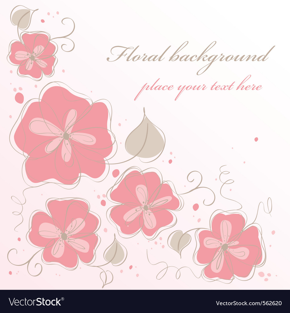Cute handmade floral card vector | Price: 1 Credit (USD $1)