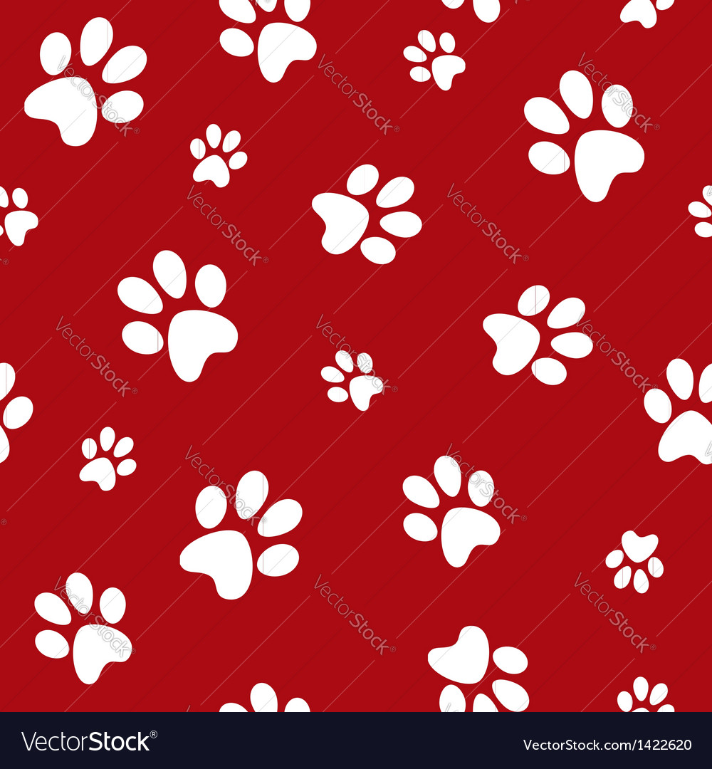 Dog footprints vector   Price: 1 Credit (USD $1)