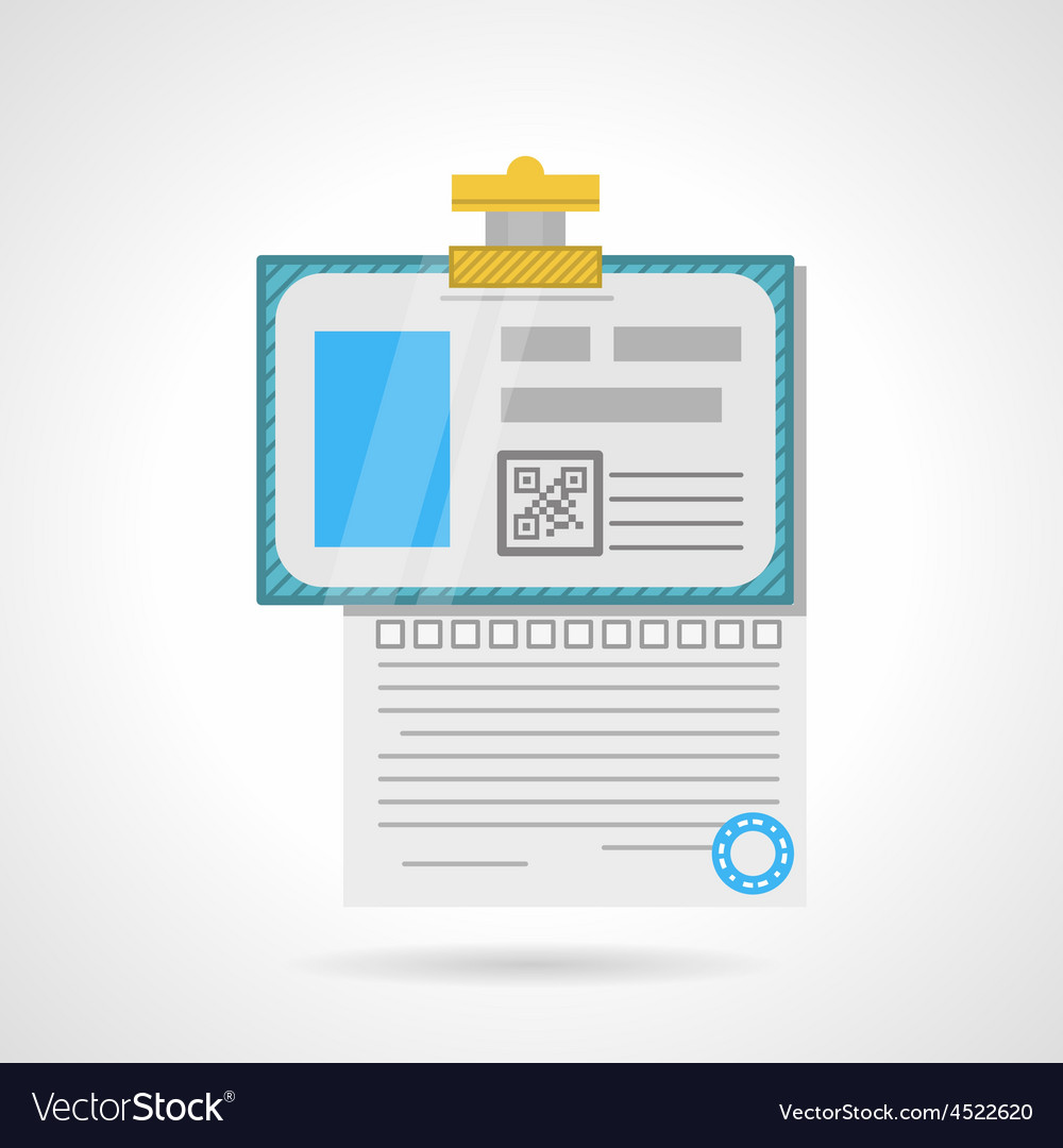Flat color icon for analysis paper vector | Price: 1 Credit (USD $1)