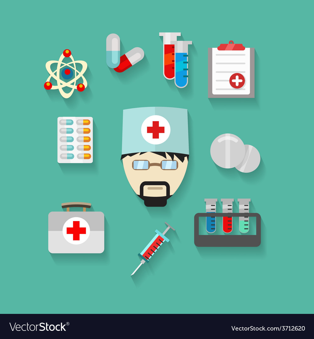 Flat of science and technology vector | Price: 1 Credit (USD $1)