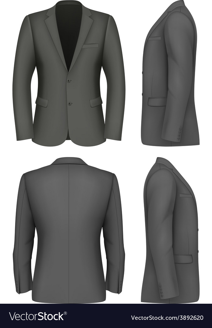 Formal business suits jacket for men vector | Price: 3 Credit (USD $3)