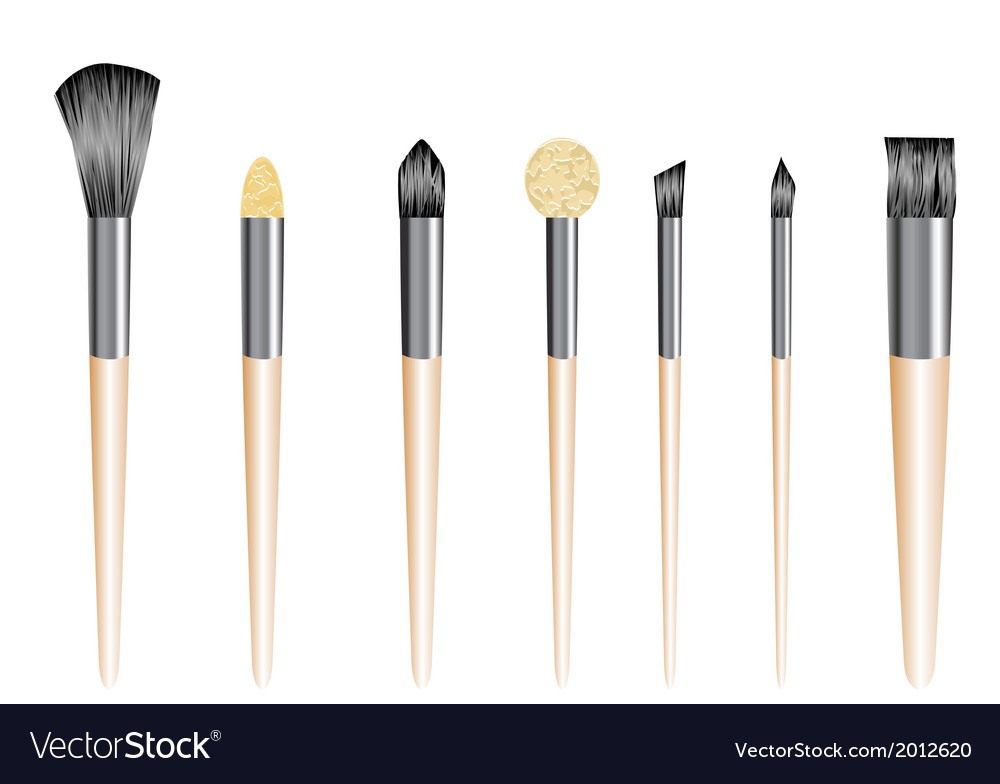 Make up brushes vector | Price: 1 Credit (USD $1)