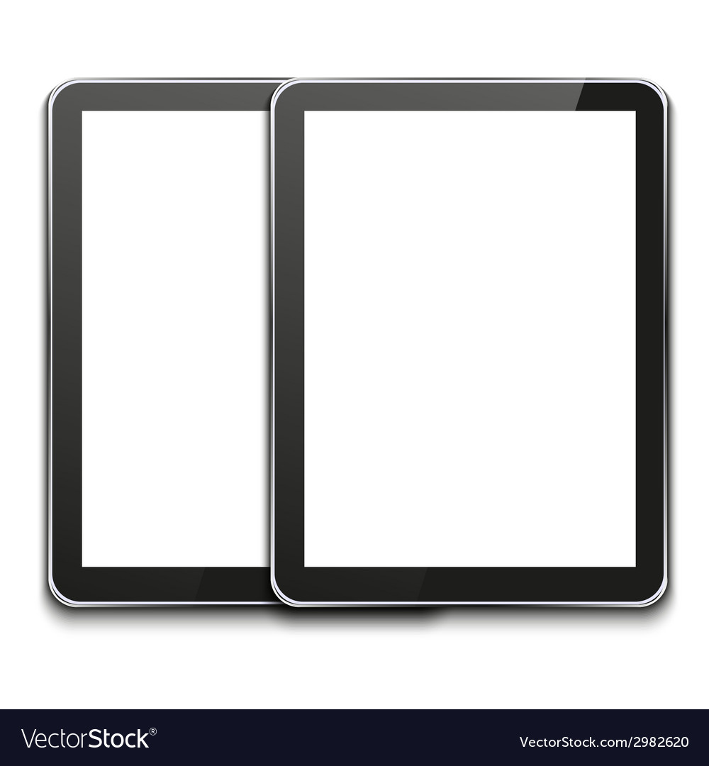 Modern computer tablet on white vector | Price: 1 Credit (USD $1)