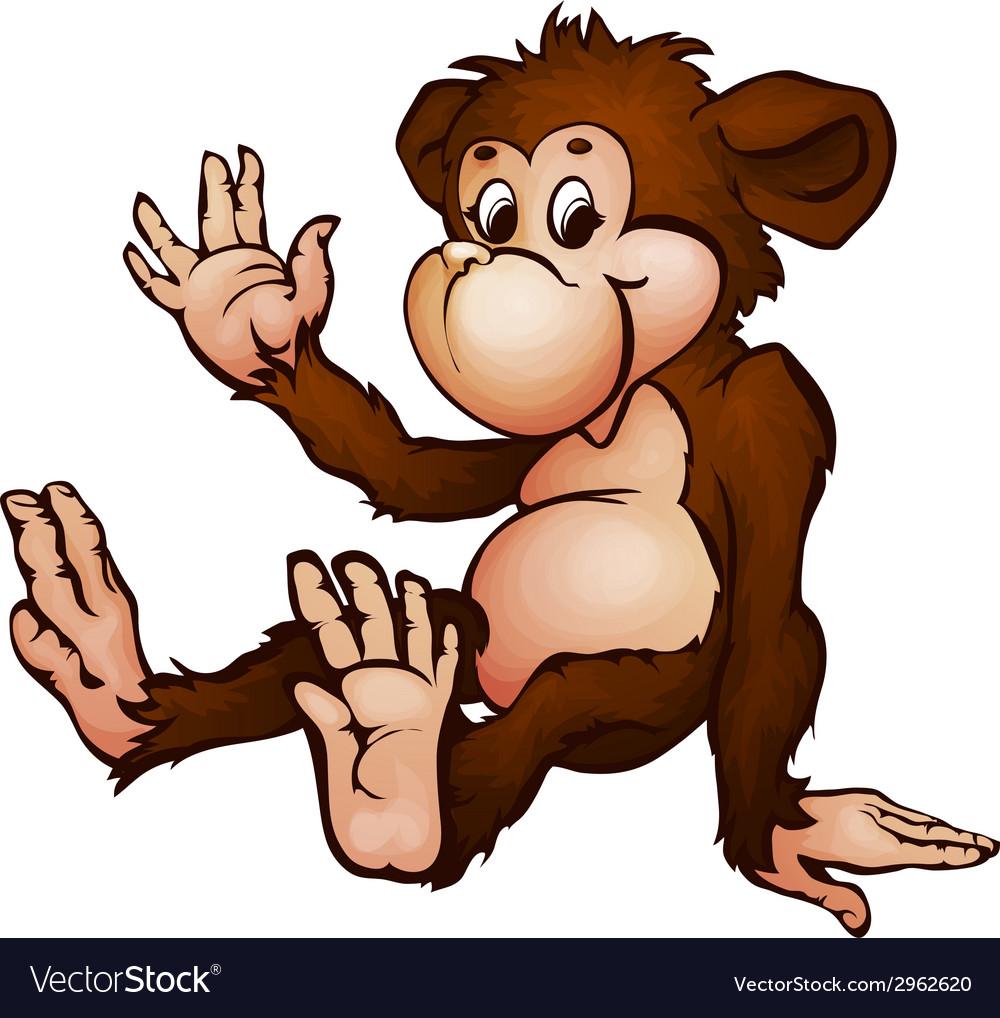 Monkey in cartoon style vector | Price: 1 Credit (USD $1)