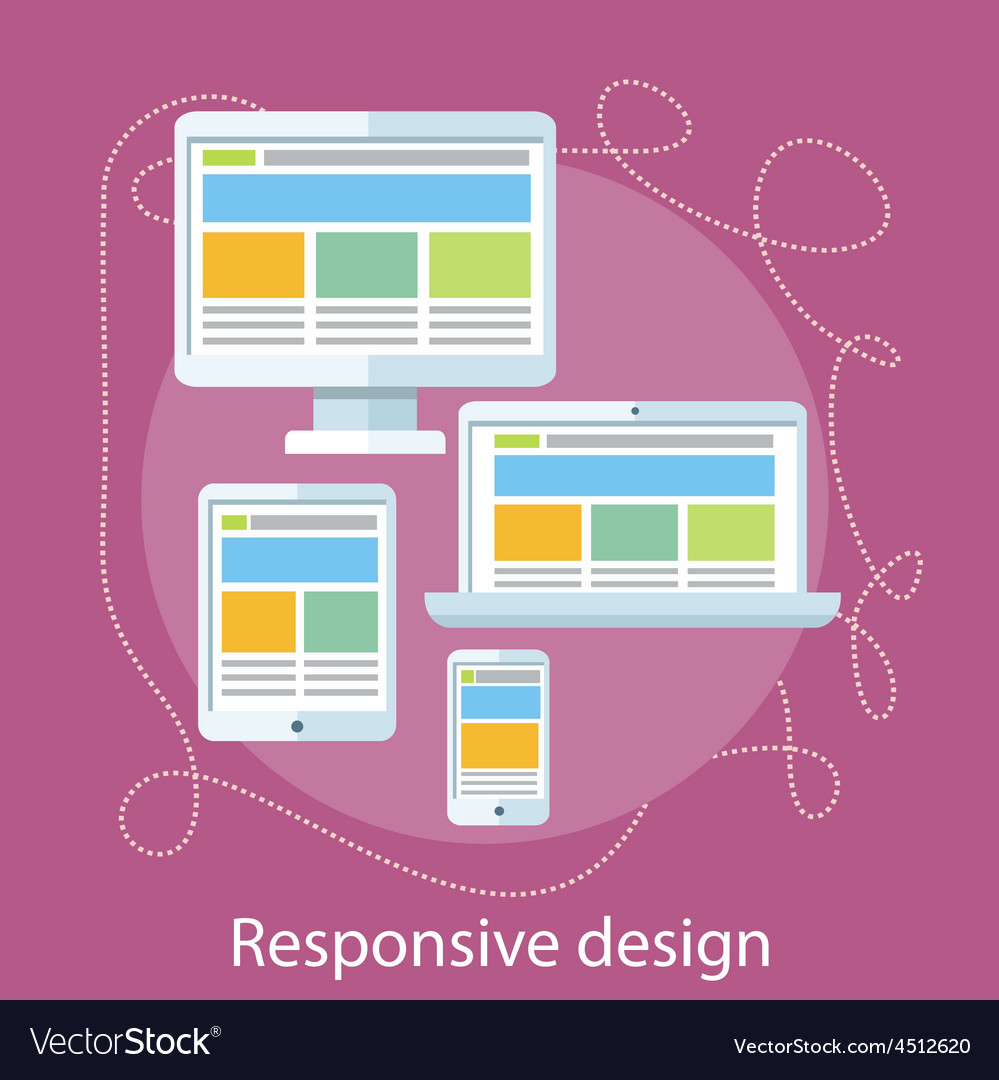 Responsive web design concept vector | Price: 1 Credit (USD $1)