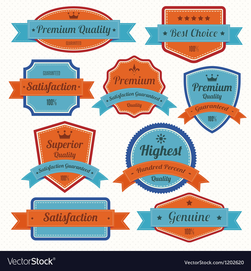 Set of retro vintage badges and labels eps10 vector | Price: 1 Credit (USD $1)