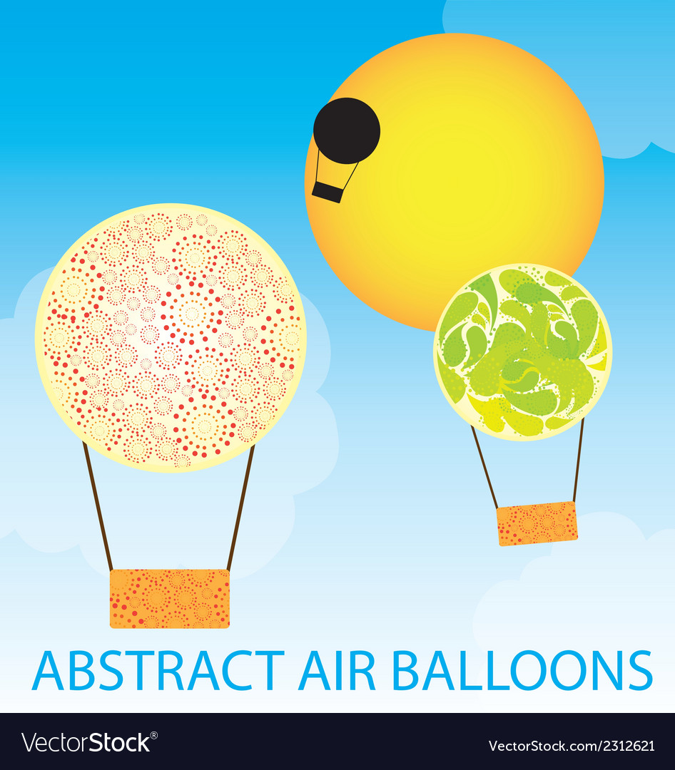 Abstract air balloons vector | Price: 1 Credit (USD $1)