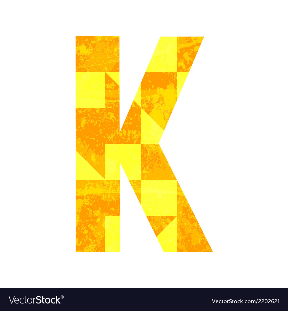 Abstract color alphabet k vector | Price: 1 Credit (USD $1)
