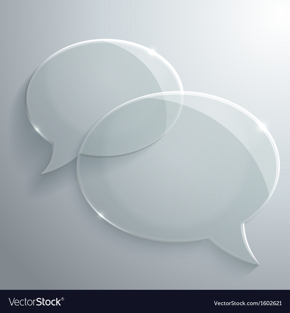 Abstract glass speech bubbles vector | Price: 1 Credit (USD $1)