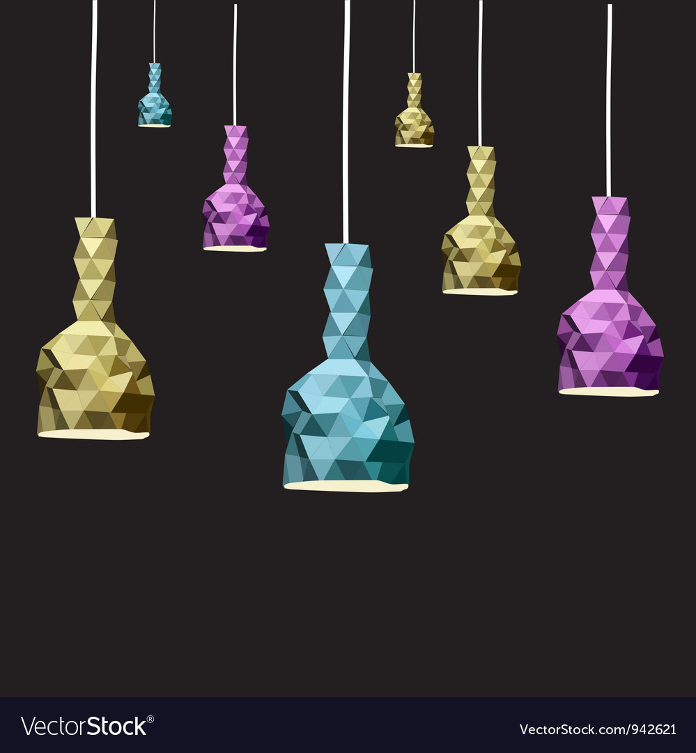 Abstract lamp set vector | Price: 1 Credit (USD $1)