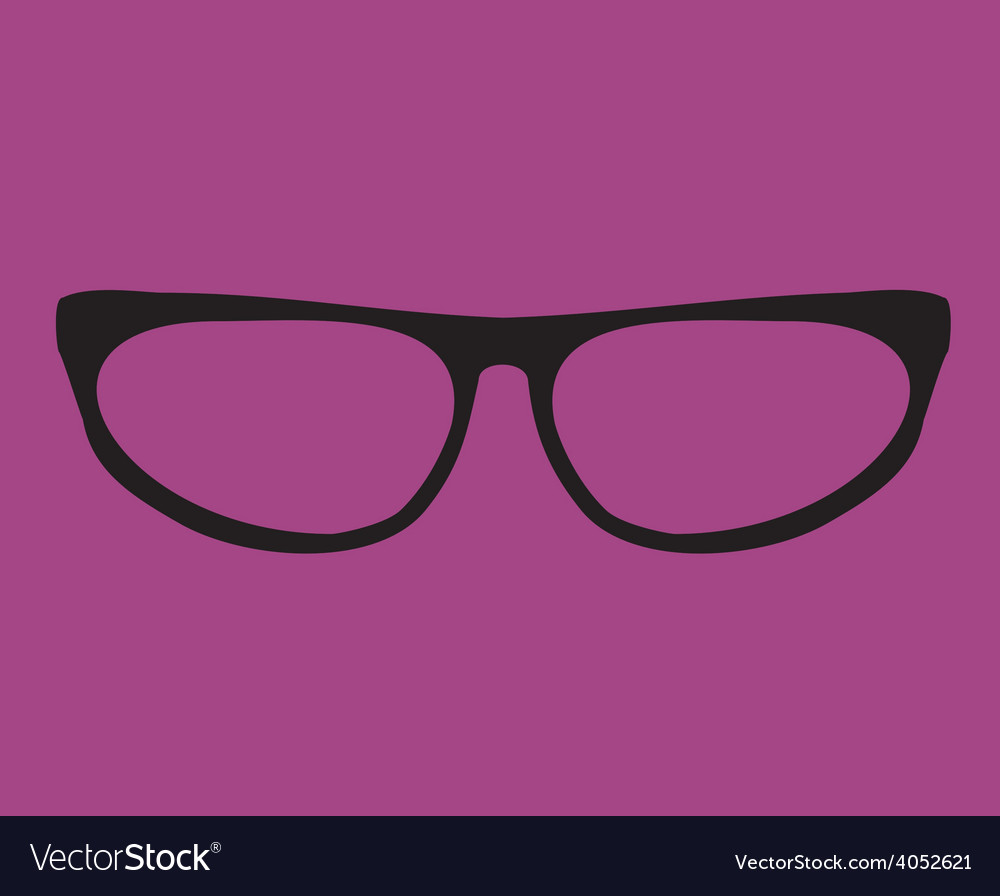 Black secretary glasses on violet background vector | Price: 1 Credit (USD $1)