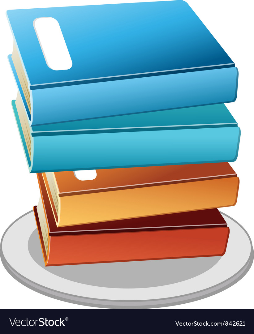 Books plate vector | Price: 1 Credit (USD $1)