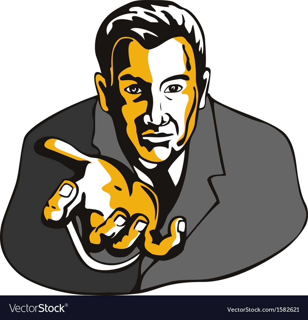 Businessman extending hands vector | Price: 1 Credit (USD $1)