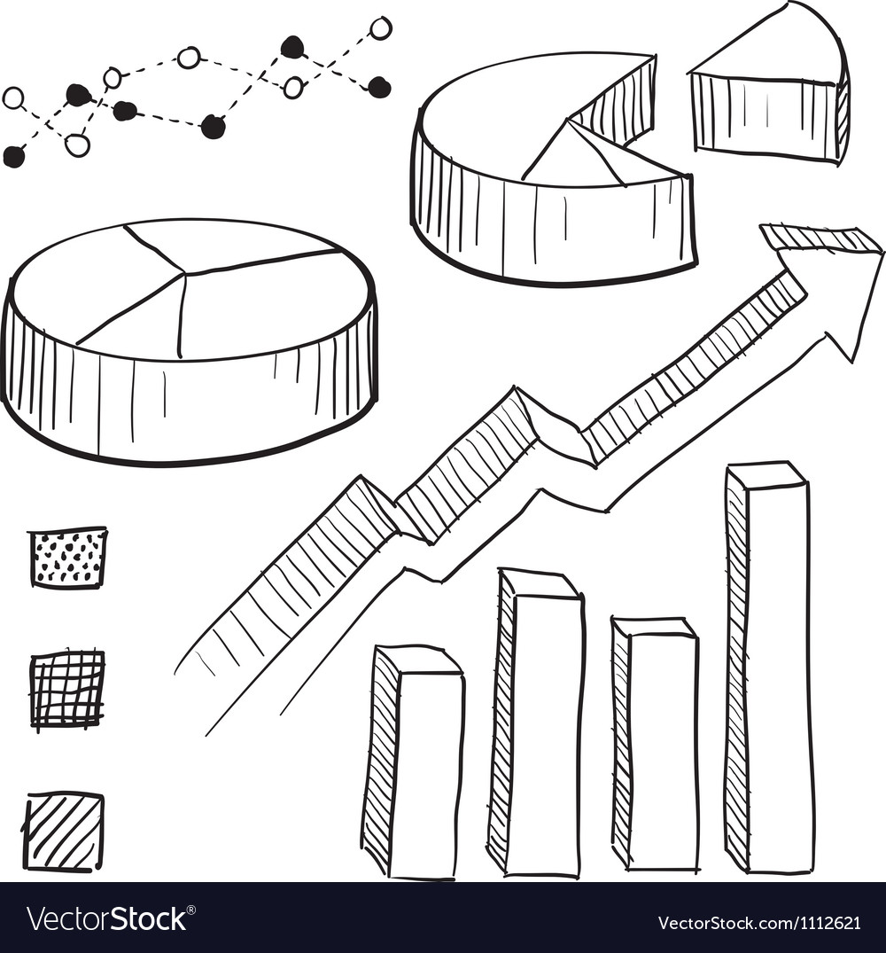 Doodle graphs charts vector | Price: 1 Credit (USD $1)