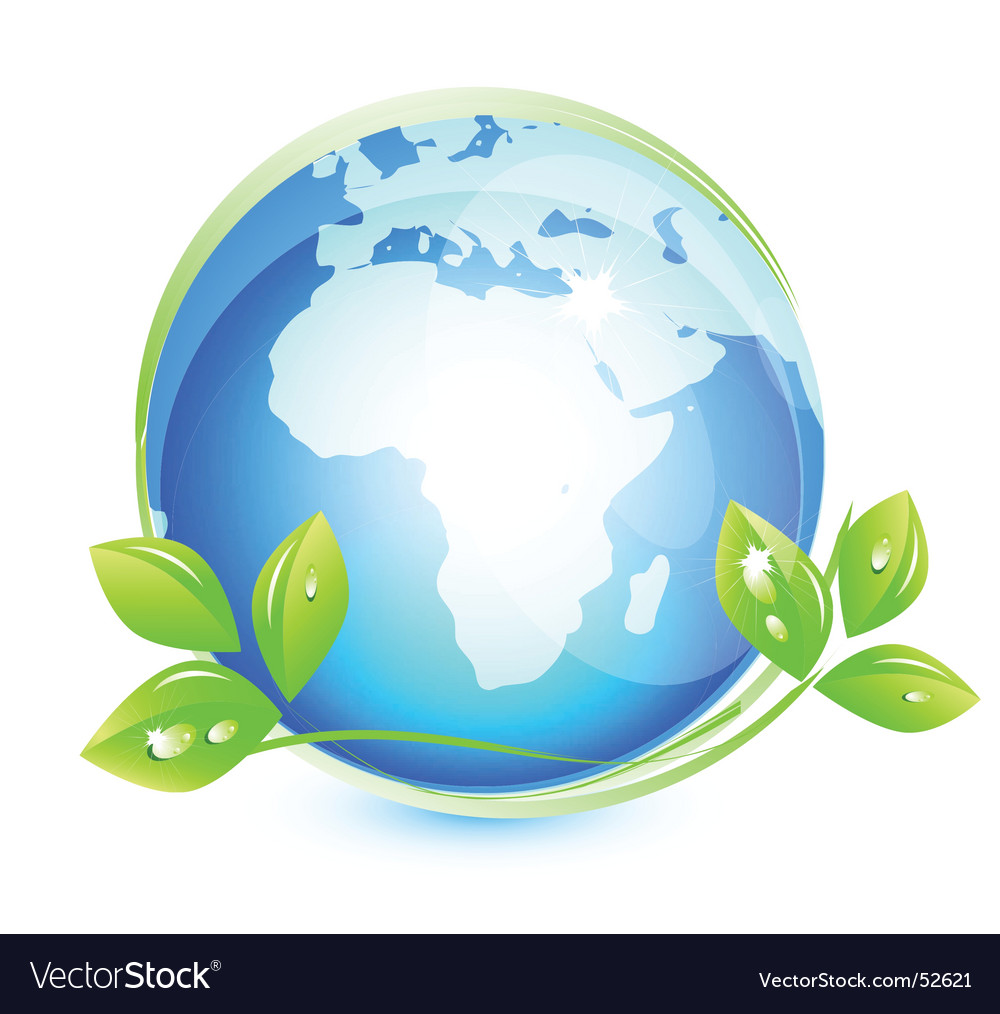 Earth leaf vector | Price: 1 Credit (USD $1)