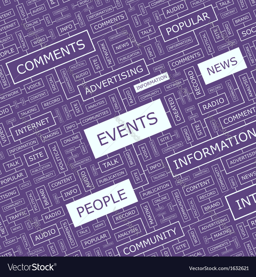 Events vector | Price: 1 Credit (USD $1)
