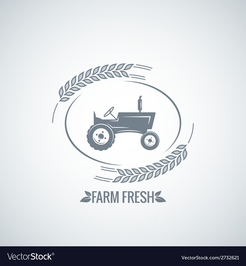 Farm fresh tractor design background vector | Price: 1 Credit (USD $1)