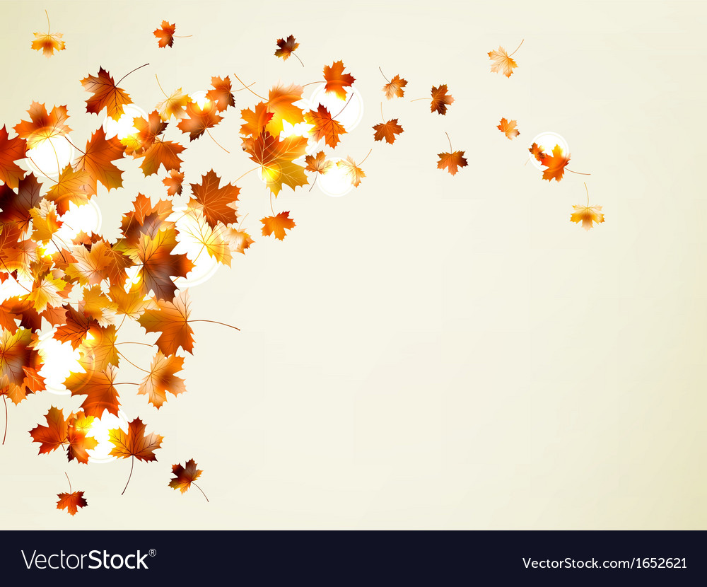 Flying autumn leaves background eps 10 vector | Price: 1 Credit (USD $1)