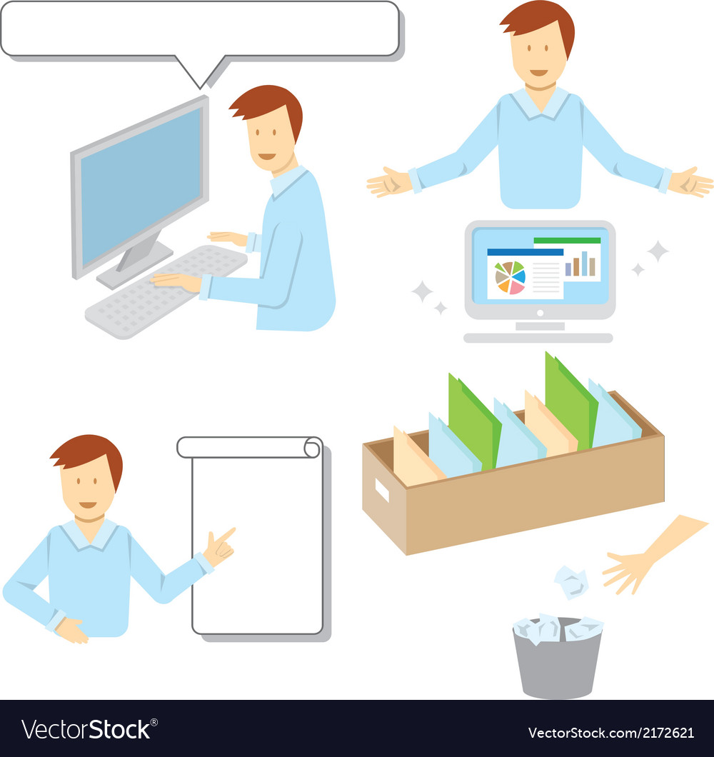 Office man vector | Price: 1 Credit (USD $1)