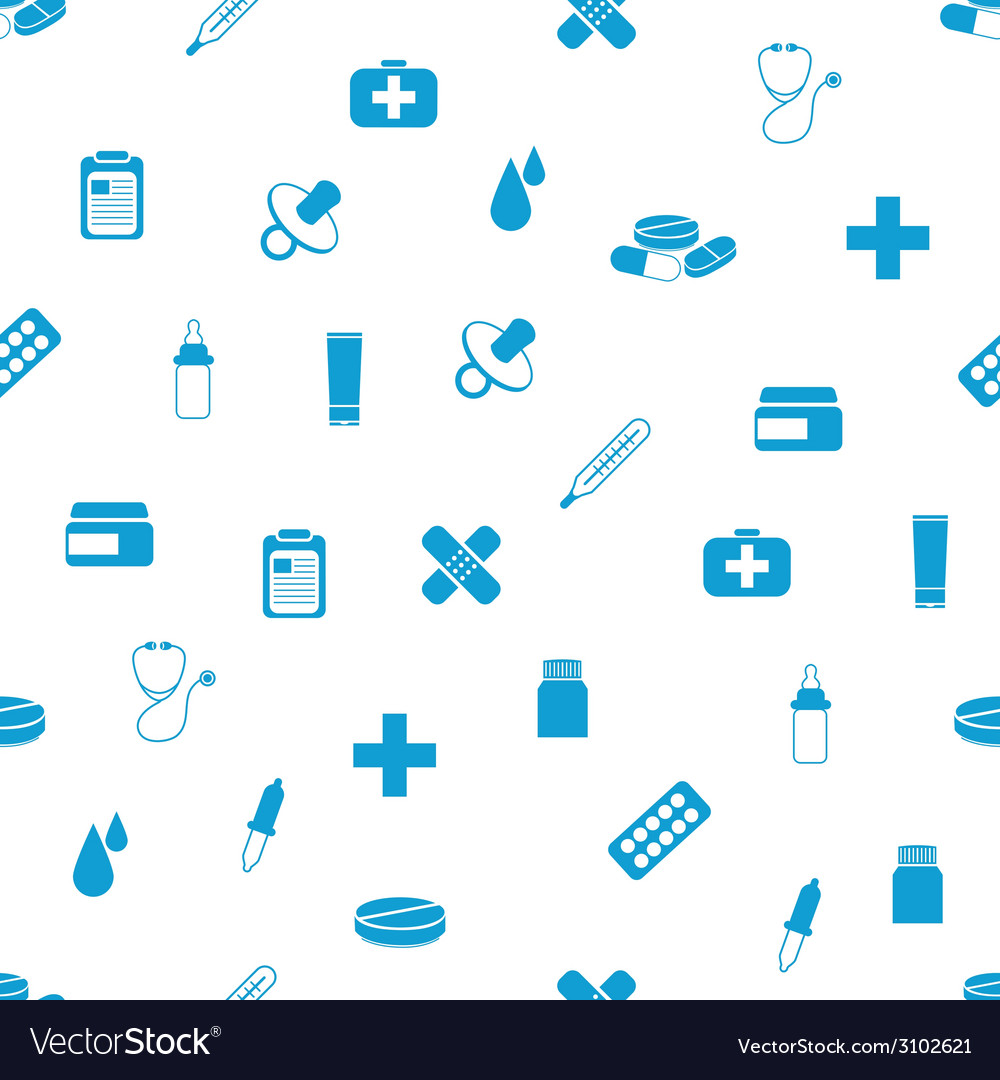 Pharmacy seamless pattern vector | Price: 1 Credit (USD $1)