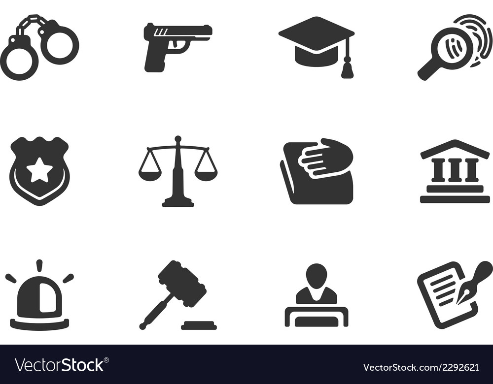 Set of justice and police icons vector | Price: 1 Credit (USD $1)
