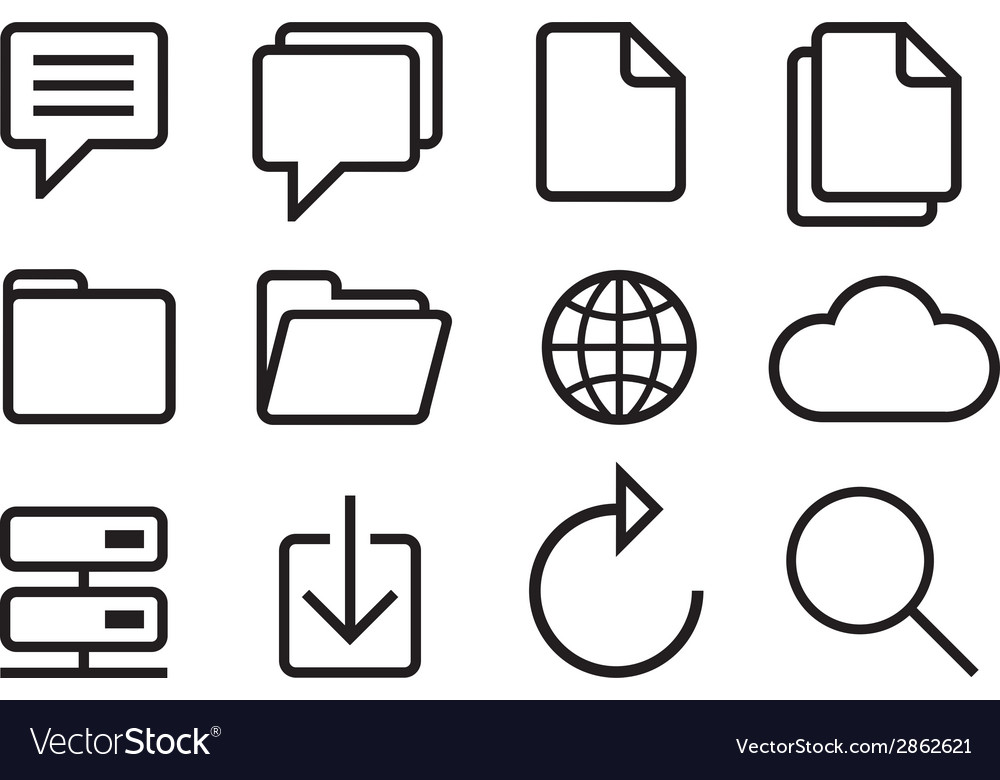 Sketched internet icons vector | Price: 1 Credit (USD $1)