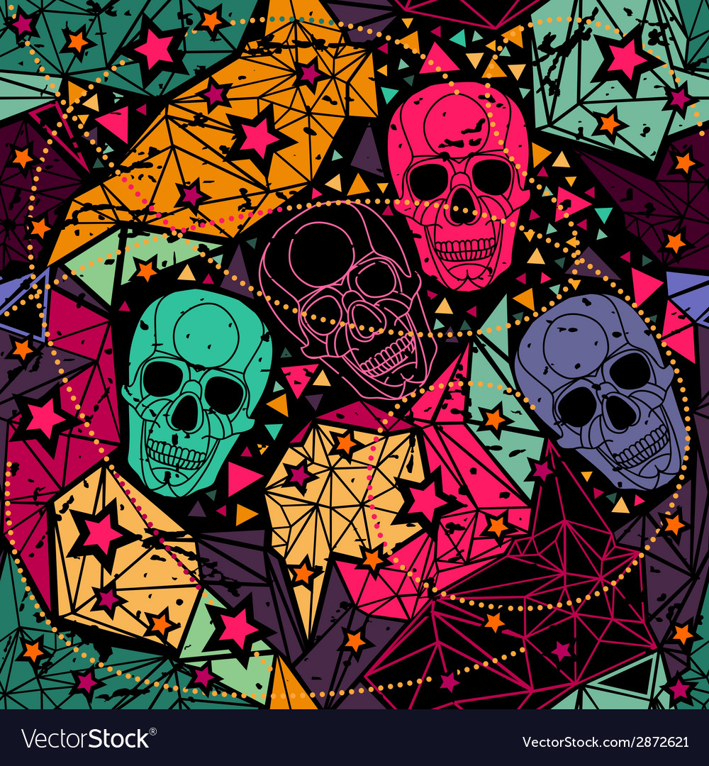 Skull with floral geometric ornament vector | Price: 1 Credit (USD $1)