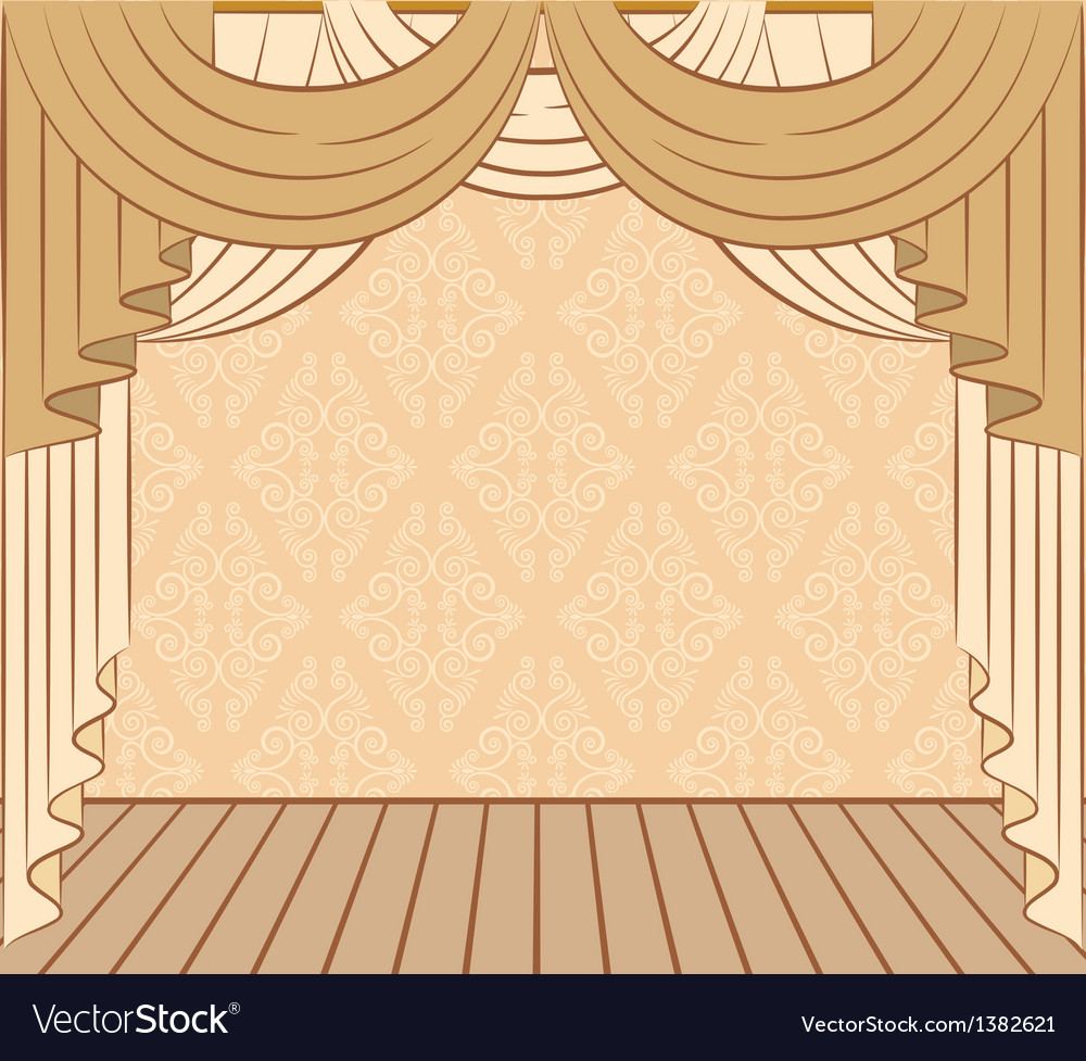 Vintage curtains vector | Price: 1 Credit (USD $1)