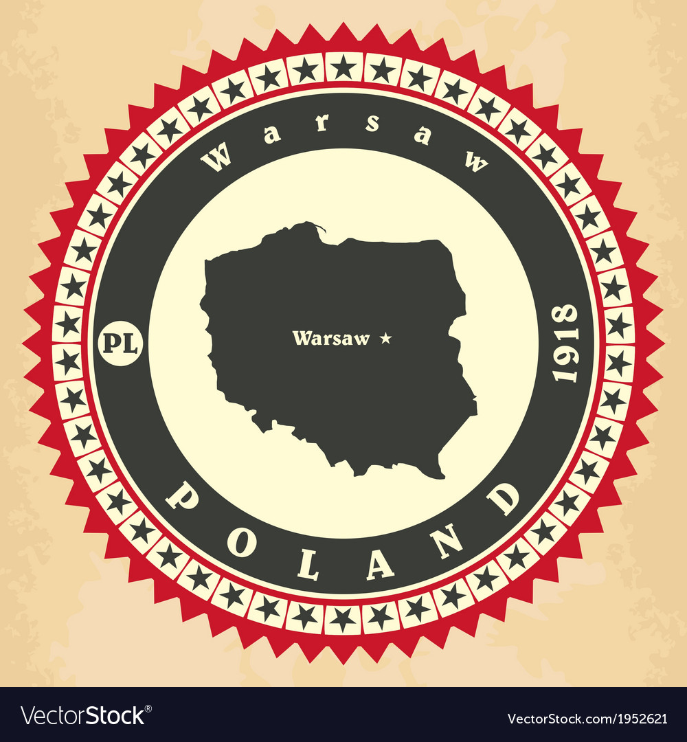 Vintage label-sticker cards of poland vector | Price: 1 Credit (USD $1)