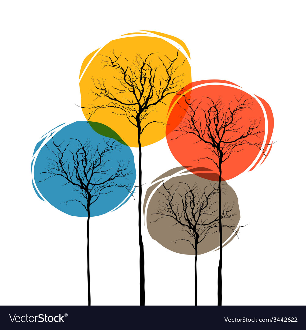 Abstract tree seasons concept vector | Price: 1 Credit (USD $1)