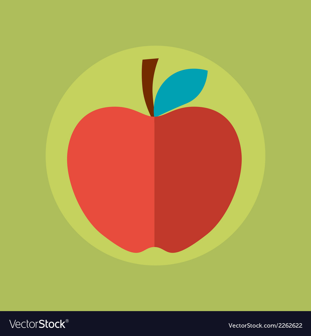 Apple idea concept in flat style vector | Price: 1 Credit (USD $1)