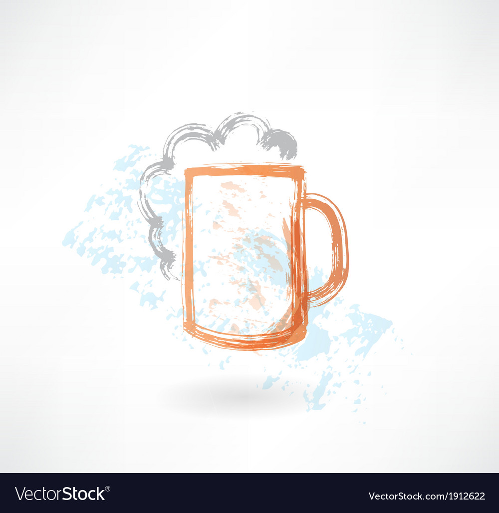 Beer grunge icon vector | Price: 1 Credit (USD $1)