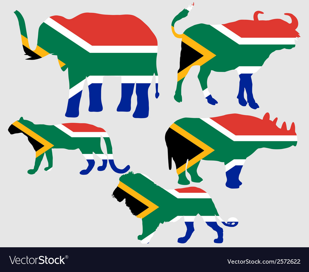 Big five south africa vector | Price: 1 Credit (USD $1)
