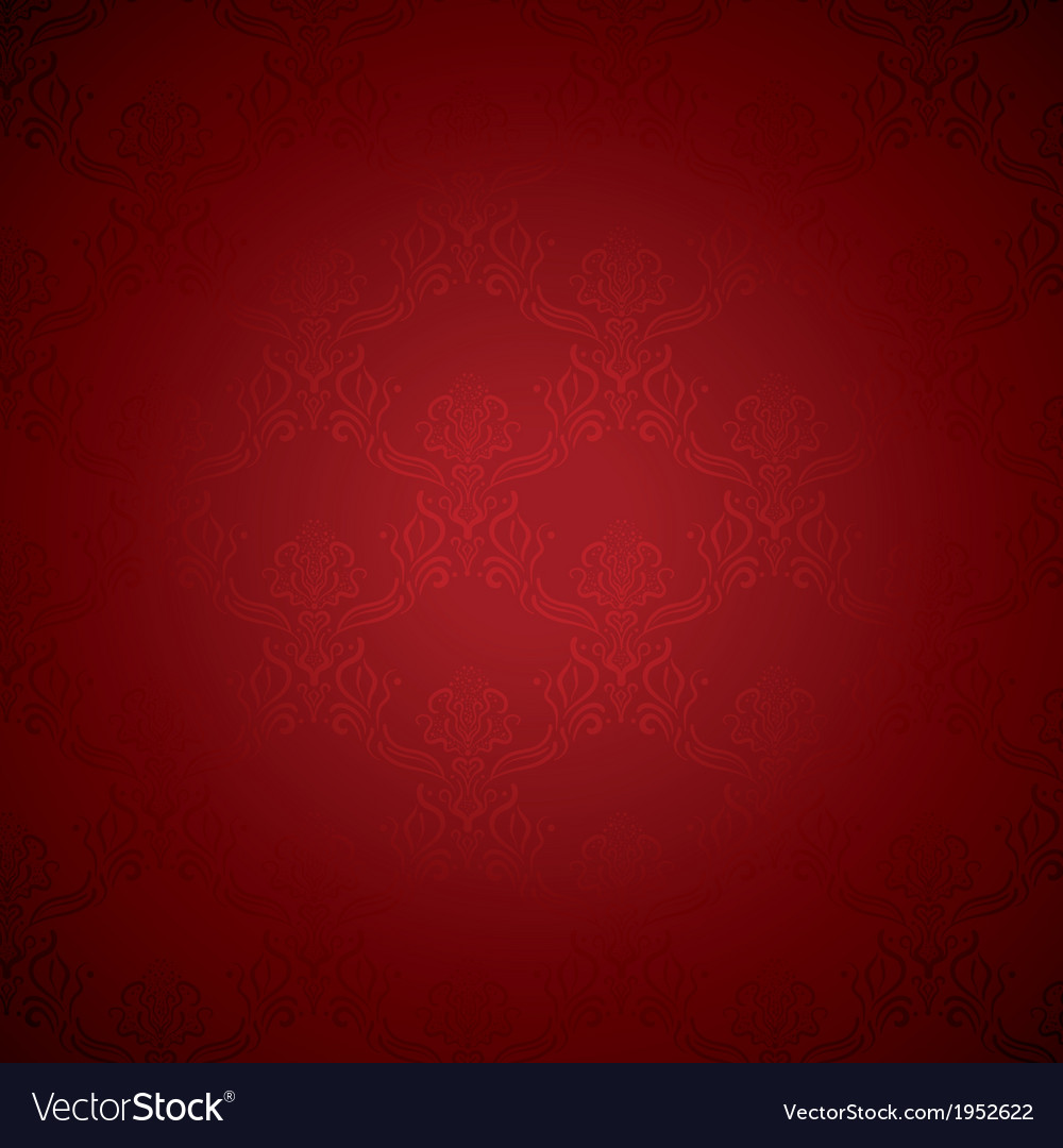 Elegant deep red silk royal flower pattern vector | Price: 1 Credit (USD $1)