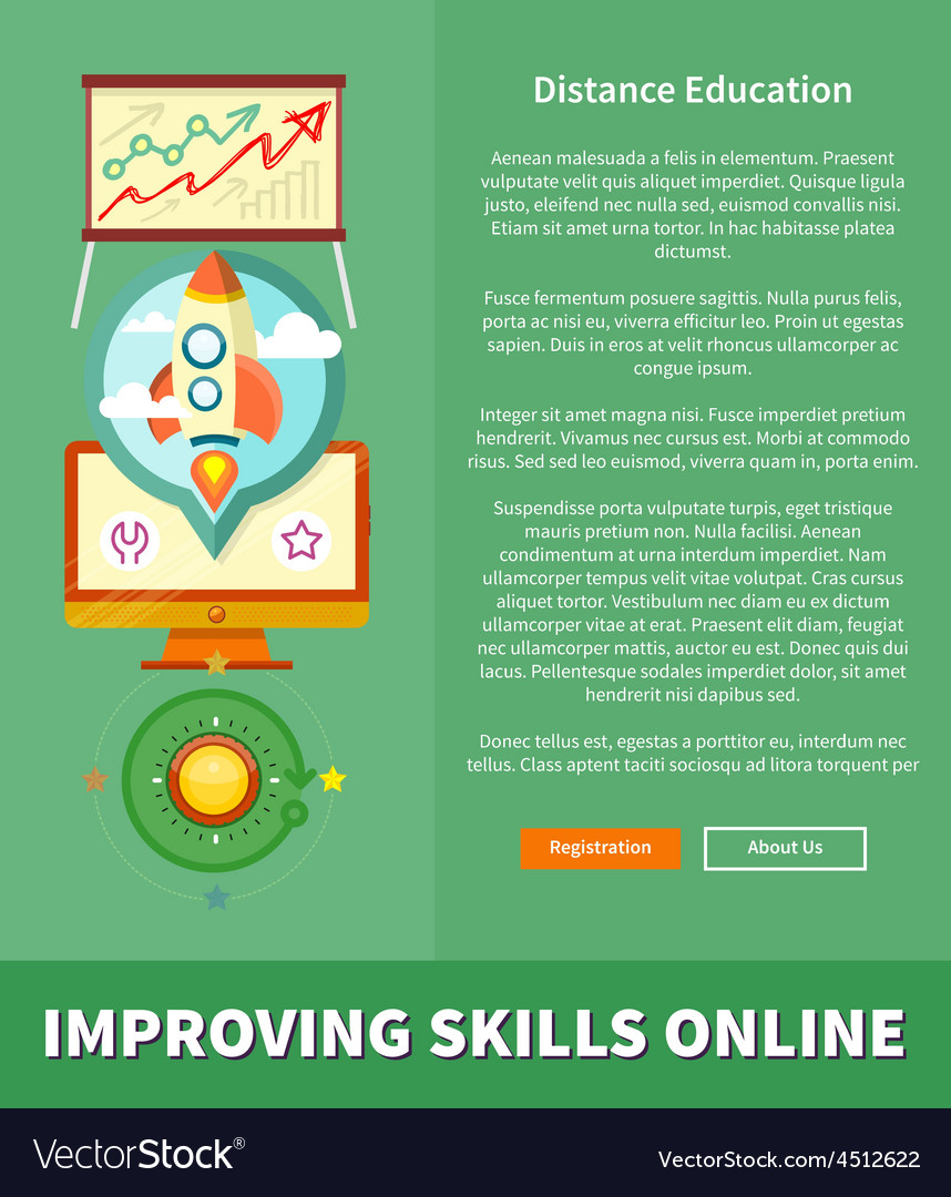 Improving skills online concept vector | Price: 1 Credit (USD $1)