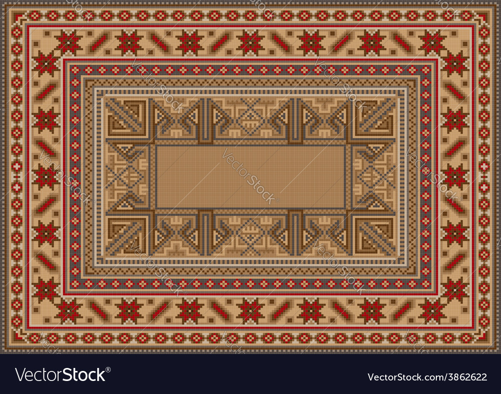 Luxurious oriental rug with original pattern vector | Price: 1 Credit (USD $1)