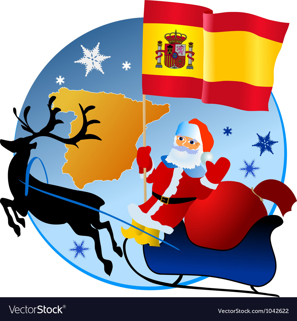 Merry christmas spain vector | Price: 1 Credit (USD $1)