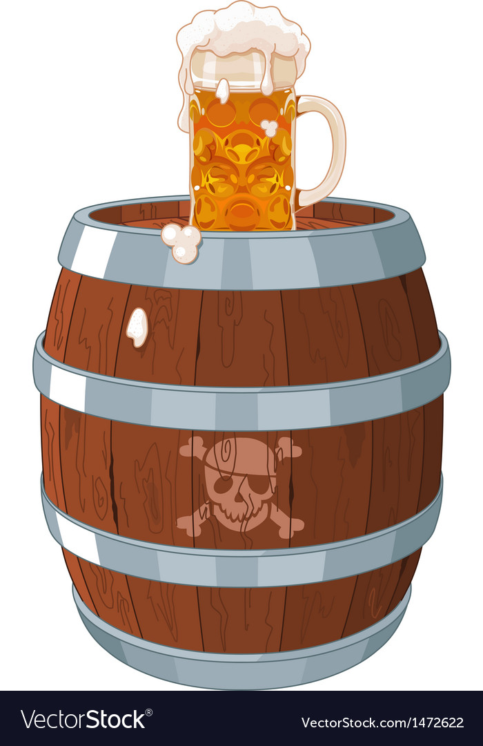 Pirate barrel vector | Price: 3 Credit (USD $3)