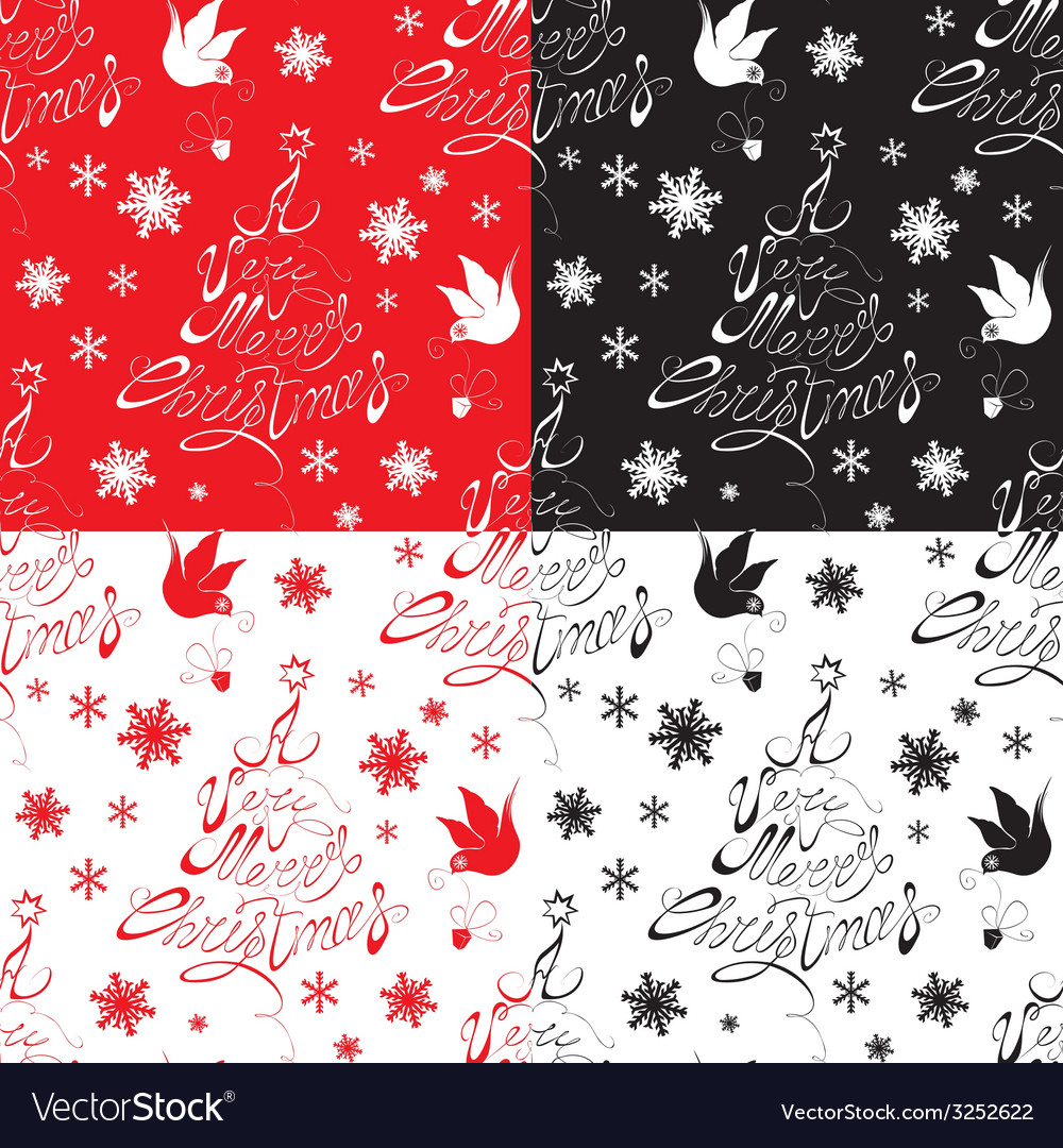 Seamless pattern with calligraphic text a very mer vector | Price: 1 Credit (USD $1)