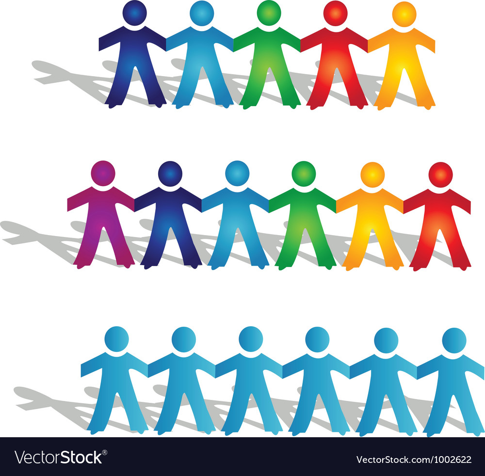 Teamwork groups of people vector | Price: 1 Credit (USD $1)