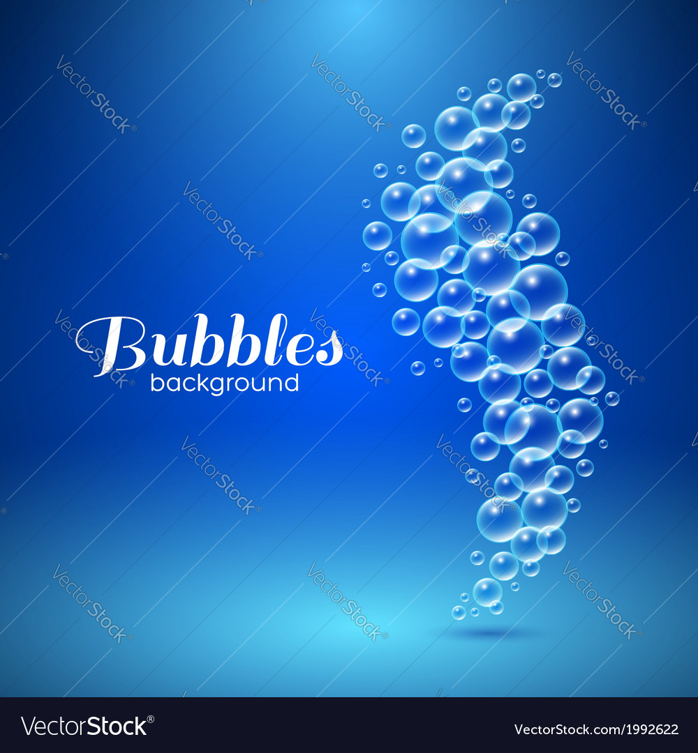 Wave of air bubbles vector   Price: 1 Credit (USD $1)