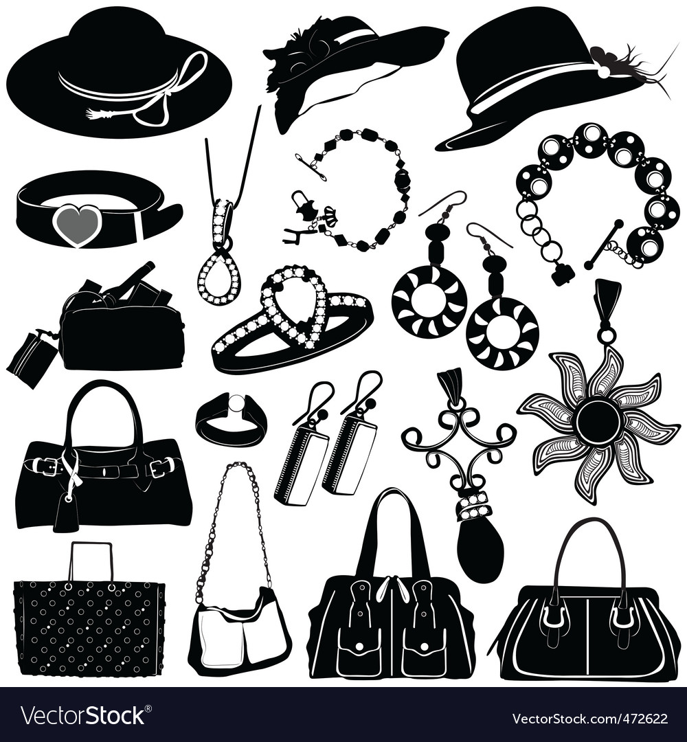 Women accessories vector | Price: 1 Credit (USD $1)