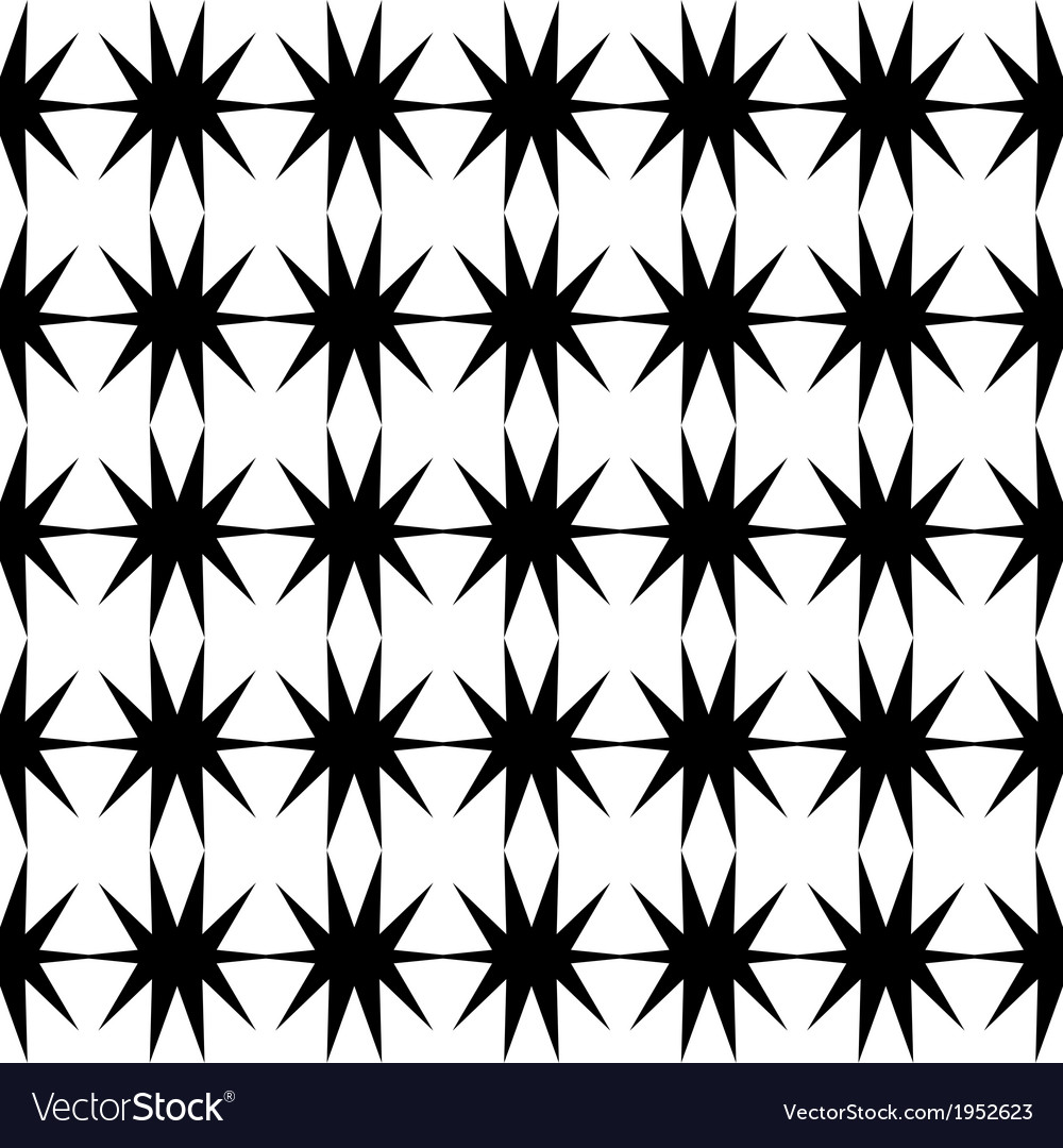 Black star pattern seamless on white background vector | Price: 1 Credit (USD $1)
