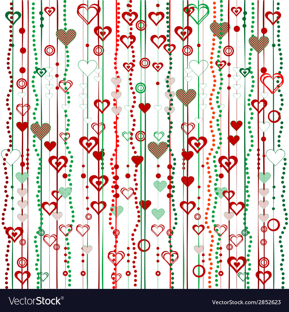 Christmas garlands with hearts vector | Price: 1 Credit (USD $1)