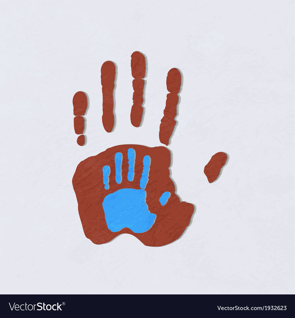 Helping hands adult care about childgreeting vector | Price: 1 Credit (USD $1)