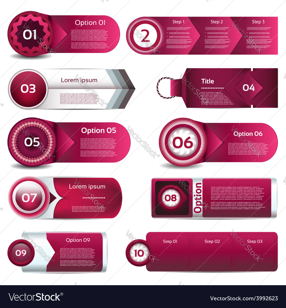 Modern infographics options banner can be used vector | Price: 3 Credit (USD $3)